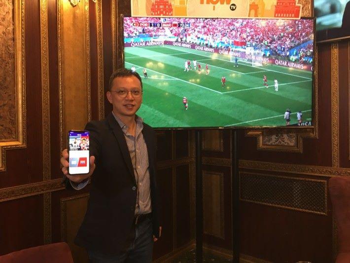 電訊盈科媒體收費電視業務主管蔡煒健先生(Derek)指出 4K 內容將會逐步普及,所以今年率先將 4K 世界盃內容引入香港市場。
