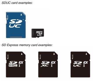 SDUC 和 SD Express 卡的模樣與現在相同