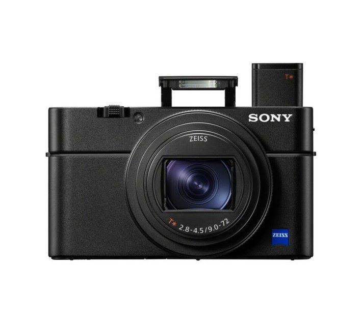 Sony RX100 VI 使用電子觀景器及內置閃光燈的狀態。