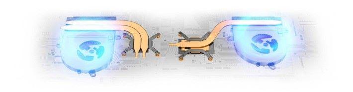 連 Ultrabook 都有兩把散熱風扇和三條熱導管。