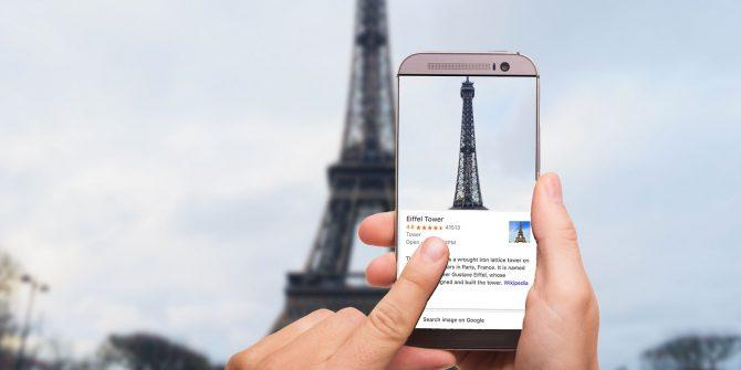 利用 Google Lens 可以即時知道地標的相關資訊。