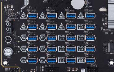 USB 埠取代 PCIe x1、支援 20 張顯示卡 ASUS H370 Mining Master 挖礦板