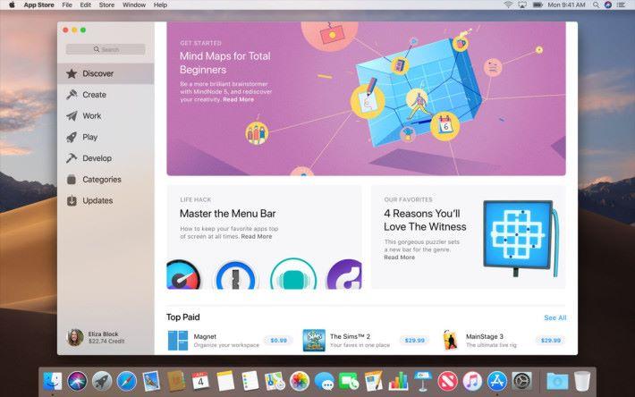 像 iOS App Store 的花肖 Mac App Store
