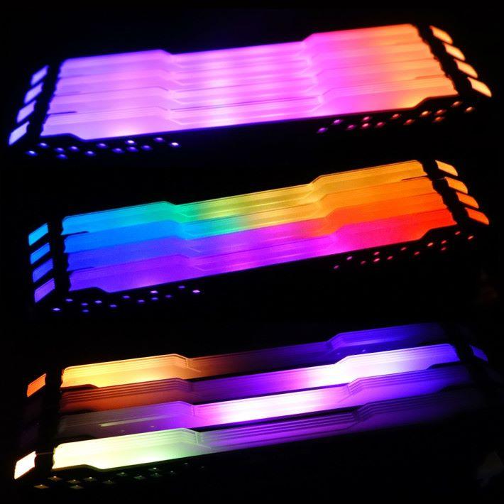 Computex 現場展示了不同的色彩效果。