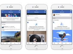 Facebook 推出「回憶」欄 自己與好友過去重要帖子集合其中