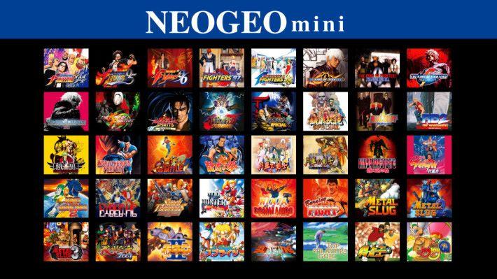 日版 NEOGEO mini 包含的遊戲