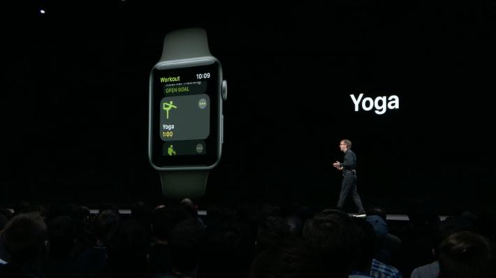 watchOS 5 加入更多預設 Workout,包括 Yoga、Hiking、Outdoor Run 等。