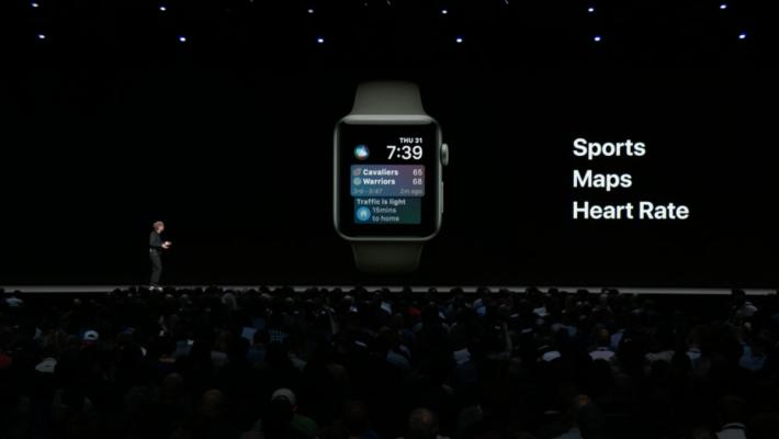 watchOS 5 的 Siri 錶面有更多 Siri Shortcuts,例如 Sports、Maps、Heart Rate 等。