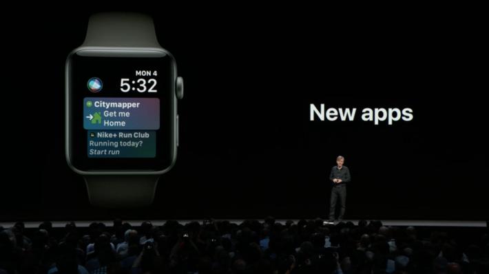 對應更多第三方 Apps,可在一個錶面可處理更多事情。