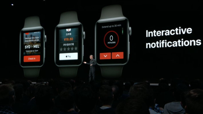 Interactive notifications 功能是在通知彈出時,能有更多即時互動如 Check in 之類。