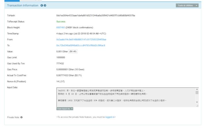只要將「 View Input As 」轉為「 UTF-8 」,就可以看到有關文章的原文。