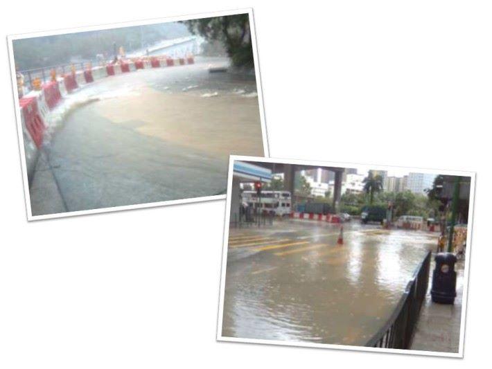 雨水亦會影響附近社區,嚴重的更會造成水浸,如何能夠改善急流湧現?十年前的一場黑雨就已經令當時的上環一帶的街道兩旁的店舖因水浸而損失慘重。