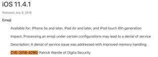 iOS 11.4.1 修正了 Patrick 回報的「親中」臭蟲
