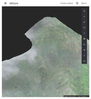 3D 圖像大槪可以辨認到樹冠,不過不知道是甚麼時候拍攝的,而且也頗耗電腦資源。