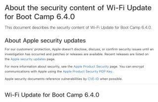macOS 和 Windows 的 KRACK 修正去年底就已推出,不過 Boot Camp 的修正日前才推出。