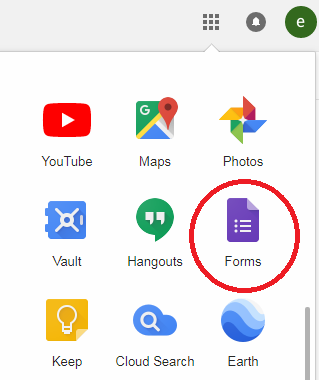 Step 1: Google 有一系列服務,其中一個是 Google Forms ( Google 表單)。