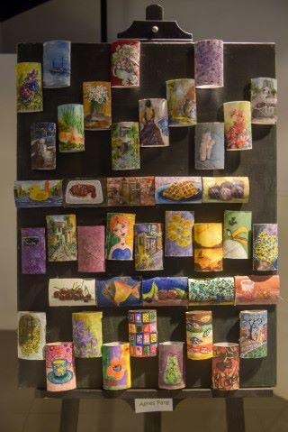 廁紙桶和雞蛋盒也是隨時找到的環保物料,在它們身上繪畫也會造出另一種獨特的新風格,令它們由廢物變成藝術品。