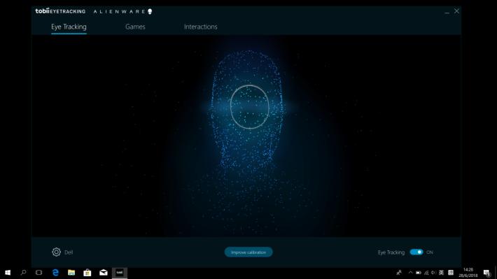 初次使用時需要進行裝置校準,玩家可以透過《Tobii Eye Tracking》進行設定。