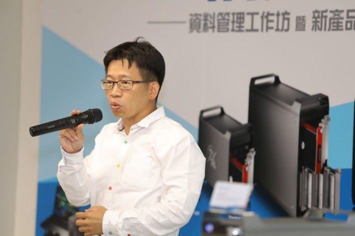 .活動由專程由台北來港參與發佈會的 AKiTiO 創辦人暨董事長陳嗣添先生打頭陣,分享 AKiTiO 成立的經過及技術特點。