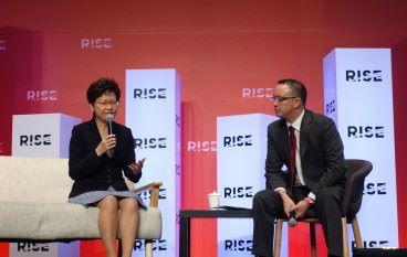 林鄭:香港係科技受害者,因為之前太成功