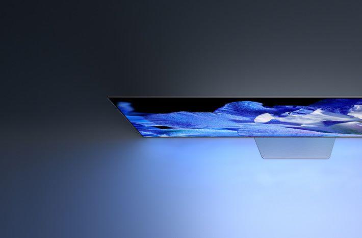 .BRAVIA A8F 採用 OLED 屏幕發聲,聲音輸出、音量,以及左右聲道分隔都造出比普通 LCD 電視更佳。