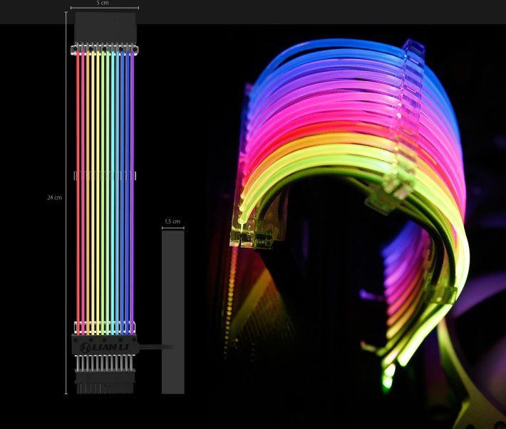 彩色燈條部分長 20cm。