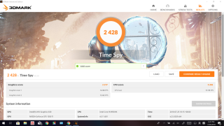 3DMark Time Spy 獲 2,428 分。