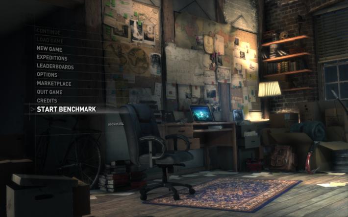 以 Rise of the Tomb Raider 的 Benchmark 來測試