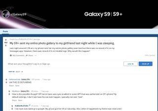 有人在 Reddit 上報告他的 Samsung Galaxy S9+ 在深夜不知情的情況下,將整本相簿傳送給他女友。