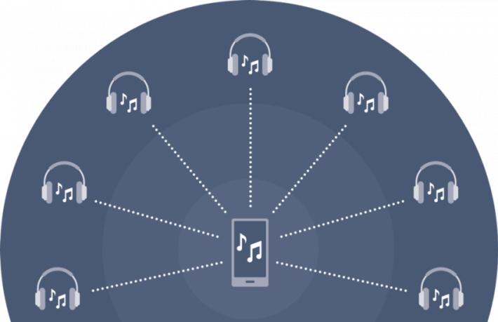 Qualcomm Broadcast Audio 功能,即是一部手機就能同時傳統音樂到多對耳機或藍牙喇叭。