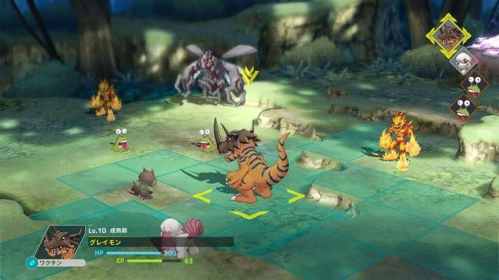 玩家可於戰鬥中自由進化,而且同一種數碼昌暴龍還有其他進化分岐存在。