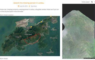 地理數據公司公開 3D 圖像 請求網民合力搜尋失踪飛行員