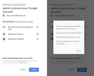 Google 指安裝程式時,會列出程式將取存哪些資料。不過這就是所謂的「私隱保障」嗎?