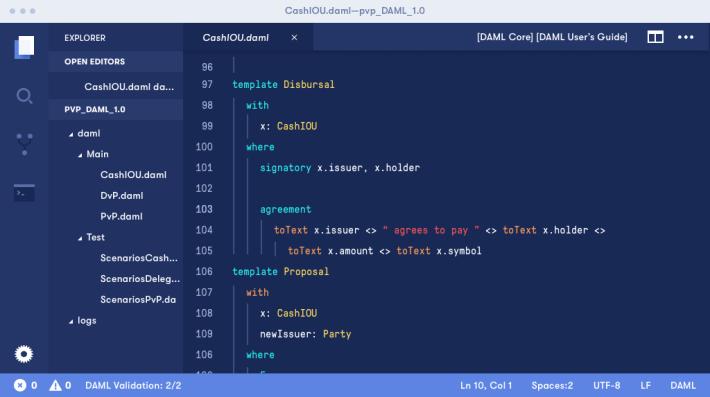 DAML 是由 Digital Asset 開發的智能合約建模語言