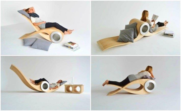 Exocet Chair 是一張仿魚自由形態的椅子。