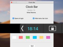 【 MacBook Pro 】 Touch bar 上的小時鐘——Clock Bar
