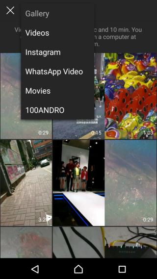 可上載手機影片。