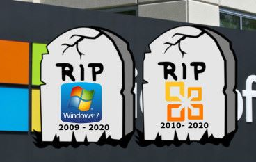 Microsoft 將於 2020 年停止對 Windows 7 及 Office 2010 支援服務
