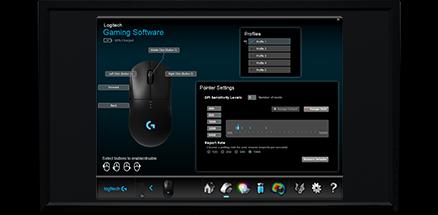 透過 LGS 軟件,不單可以設定 6 個自訂功能鍵的指令,還可以以 LIGHTSYNC RGB 同步 RGB 燈光效果。