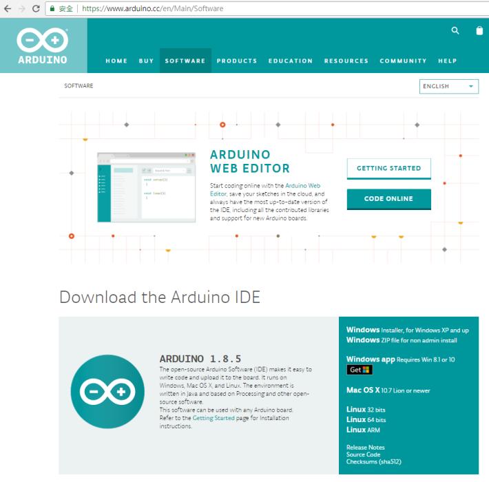 傳統的 Arduino IDE ,只支援程式語言編寫,對新手而言需同時學習語法,會較為吃力。
