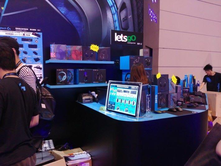 星期四才發售的 Pro 系列無線滑鼠及電競耳機,各位也可以在場內試玩及體驗得到。