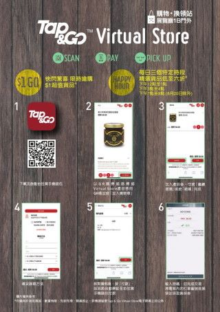 Tap & Go Virtual Shop 購物過程(點擊放大)