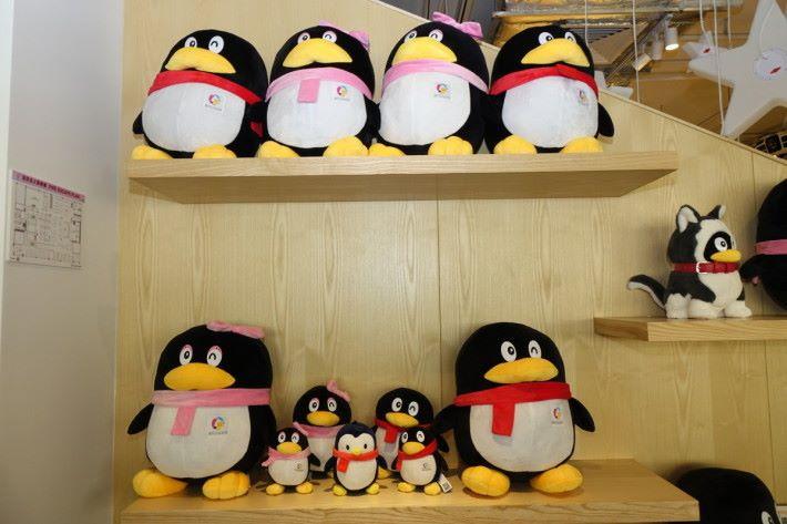 騰訊企鵝加入眾創空間標誌。