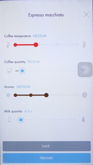 用家可利用相應的手機程式,把個人喜好的香味、奶量、咖啡濃度和溫度等記錄。