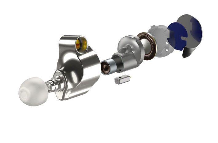 由三個單元組成的高清混合驅動單元系統,收納在精密的鎂合金內殼裡,提供最佳的聲音路徑,又減少不必要振動。