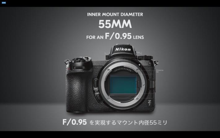 接環直徑達 55mm ,讓更多光線進入相機。