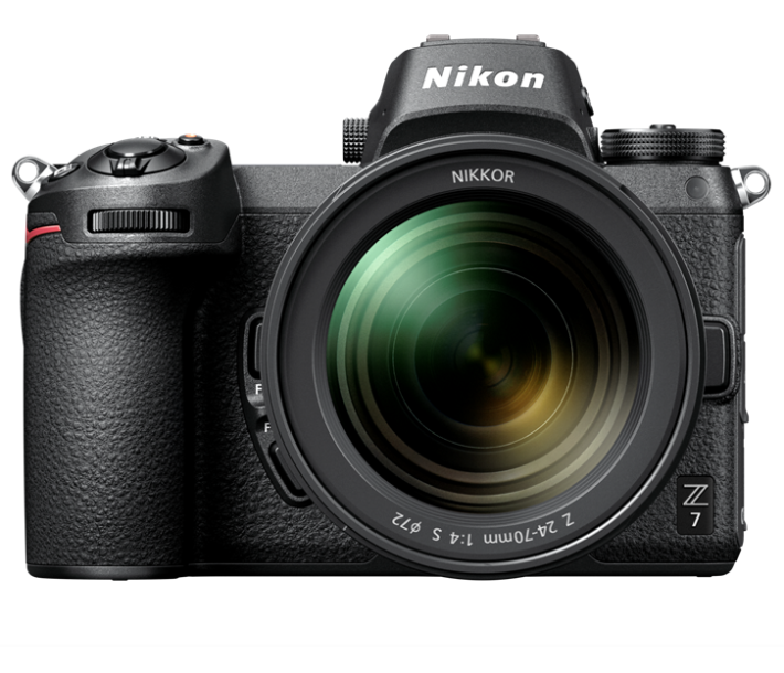 Nikon Z7 的外形猶如細版 D-SLR 。