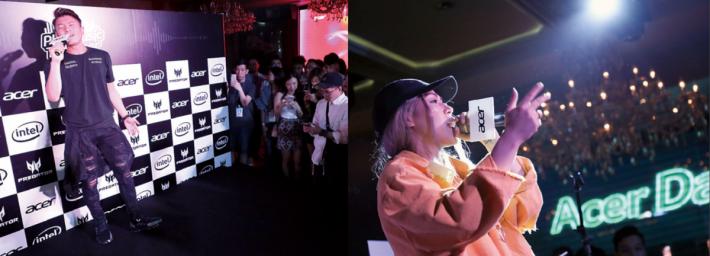 Acer Day & Night Music Party 邀請到巨星周國 賢、《狂舞派》主題曲主唱黃宇希等歌手演唱。