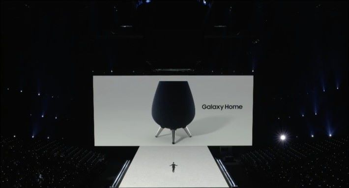 Galaxy Home 看起來像個鼎,是很符合韓國文化的設計。