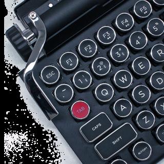 左邊的回車撥桿可當作 Return 鍵或發出巨集指令